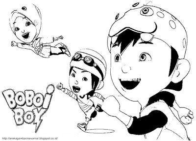 Aneka Gambar Mewarnai Gambar Mewarnai Boboi Boy Untuk Anak Paud