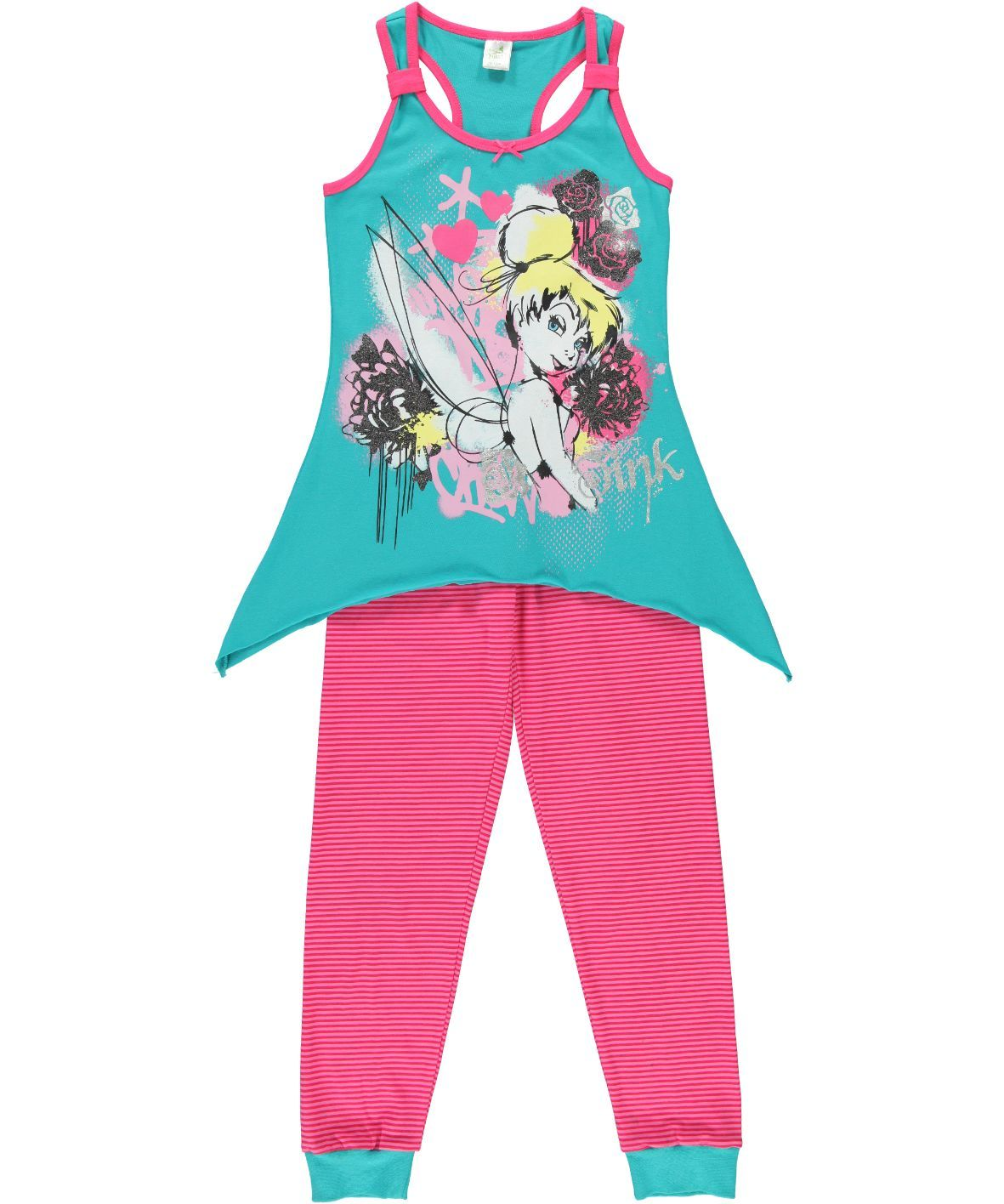 fe258fc81a0a2 Your daughter can get edgy with Tink in this sleeveless vest and leggings  set. Available at selected Ackermans stores.