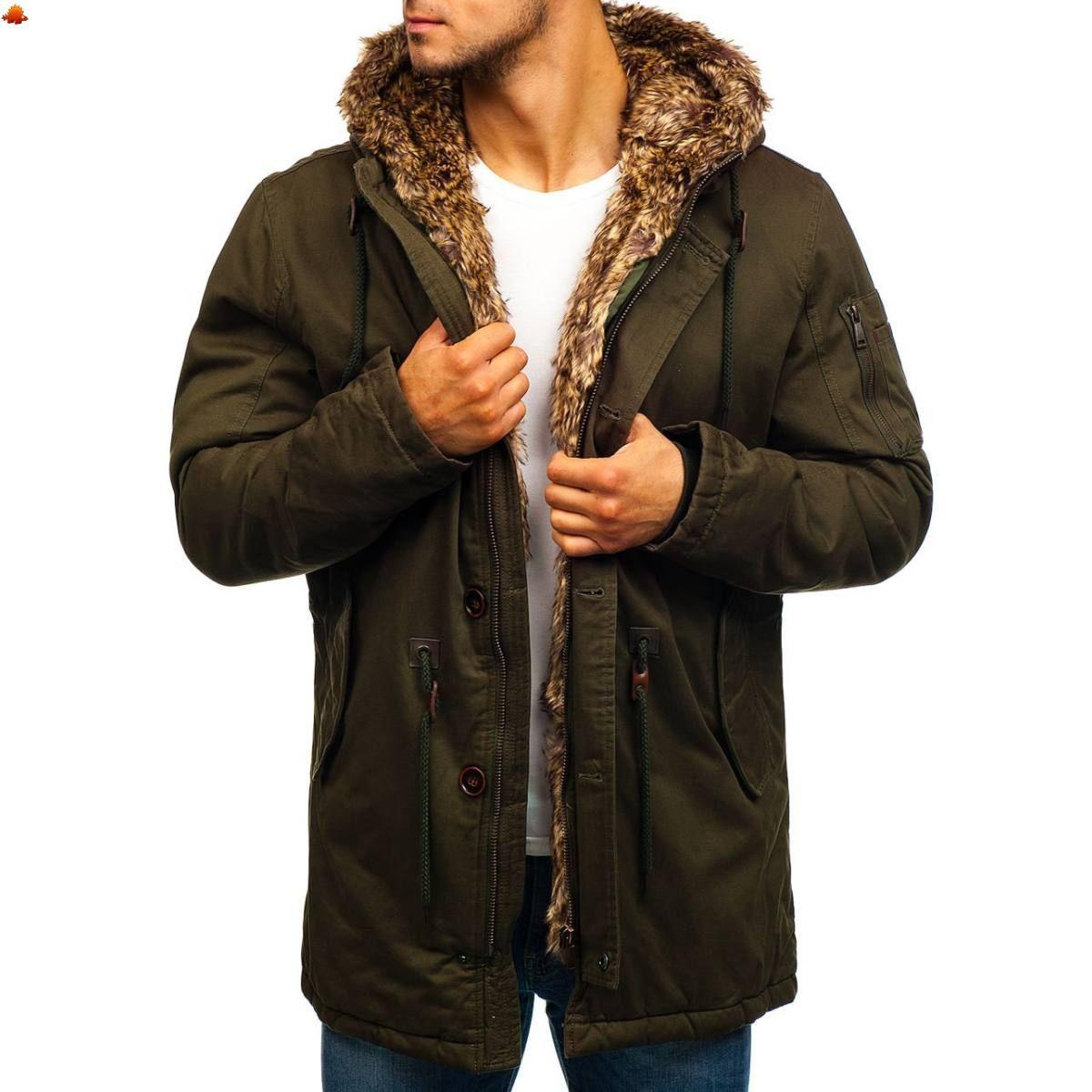 6ff0ab0578 Férfi télikabát #1065 - zöld - ❄️Téli ajánlatok❄ | Kabát ...