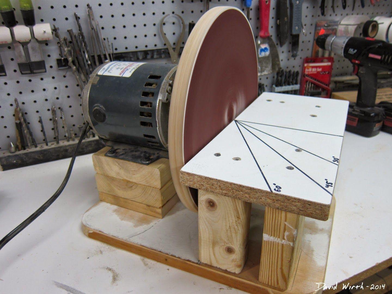 Disc Sander Diy Build For Free Best Woodworking Tools