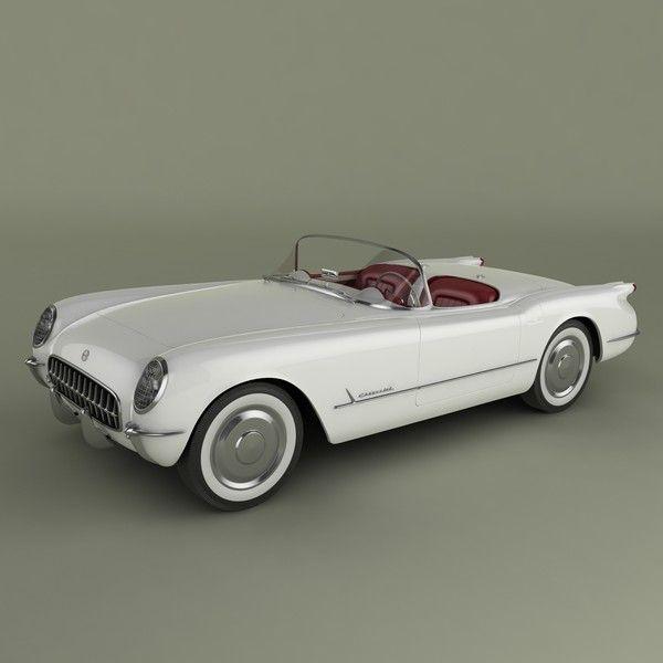 3ds max chevrolet corvette 1953 - Chevrolet Corvette 1953... by desmonster