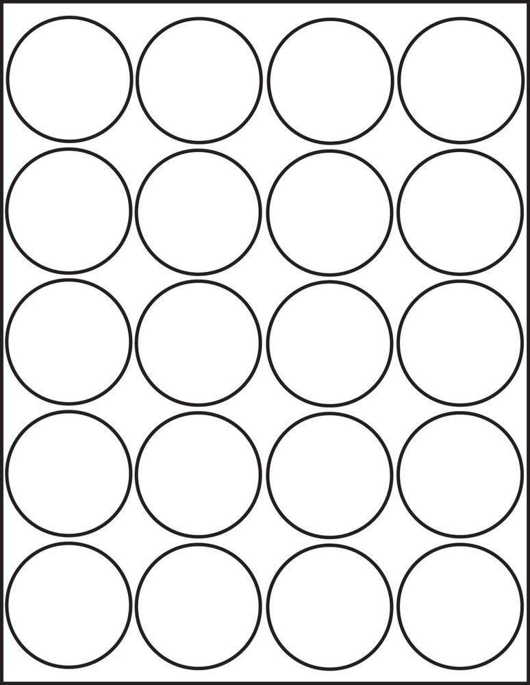 2 Inch Circle Label Template