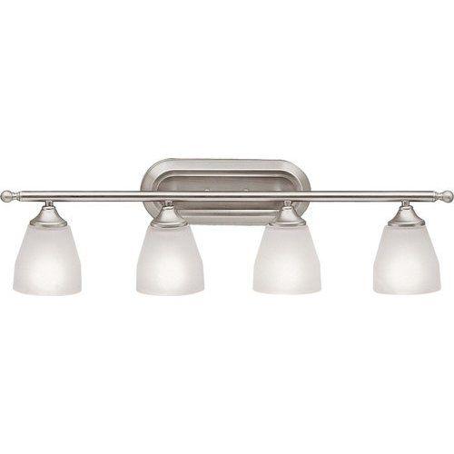 Photo of Kichler Ansonia 4 Light Wall Mount Bathroom Lamp – Brushed Nickel 5449NI