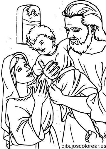 dibujos para pintar sagrada familia imagui