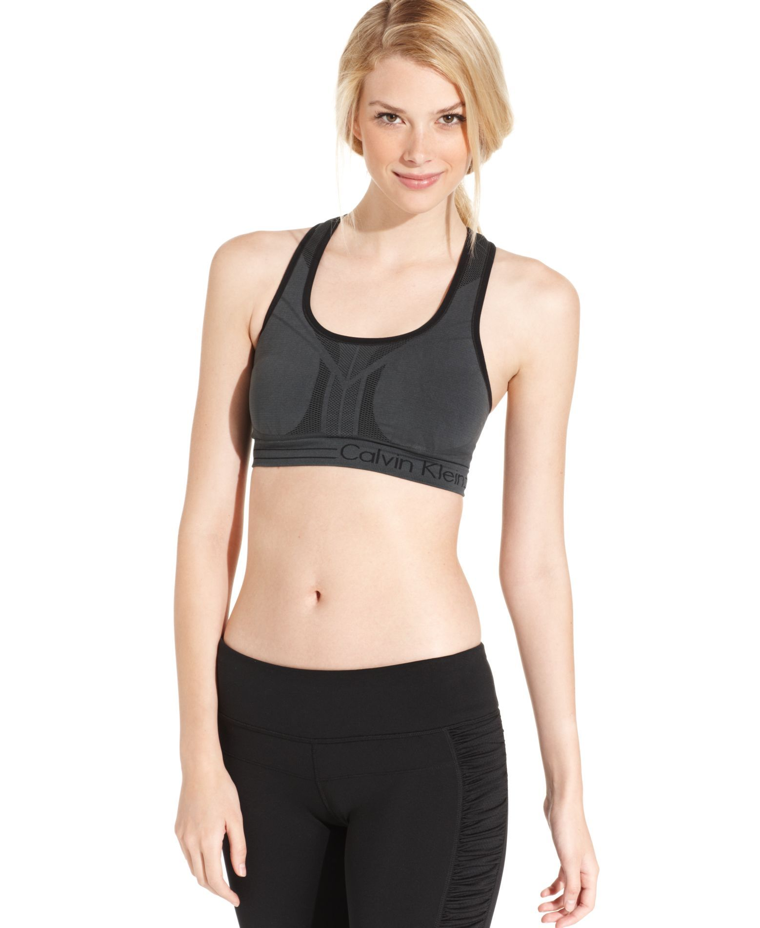 7f3883b8a72 Calvin Klein Performance Reversible Racerback Sports Bra