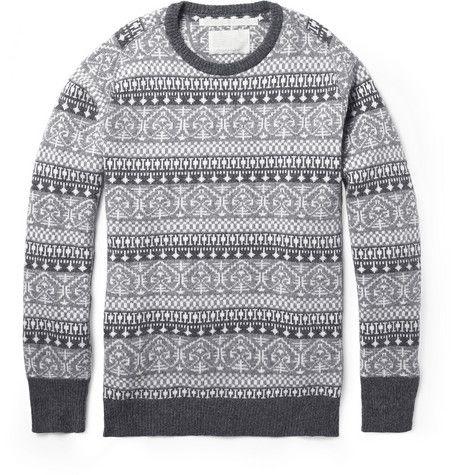 White Mountaineering Fair Isle Wool-Blend Sweater | MR PORTER ...