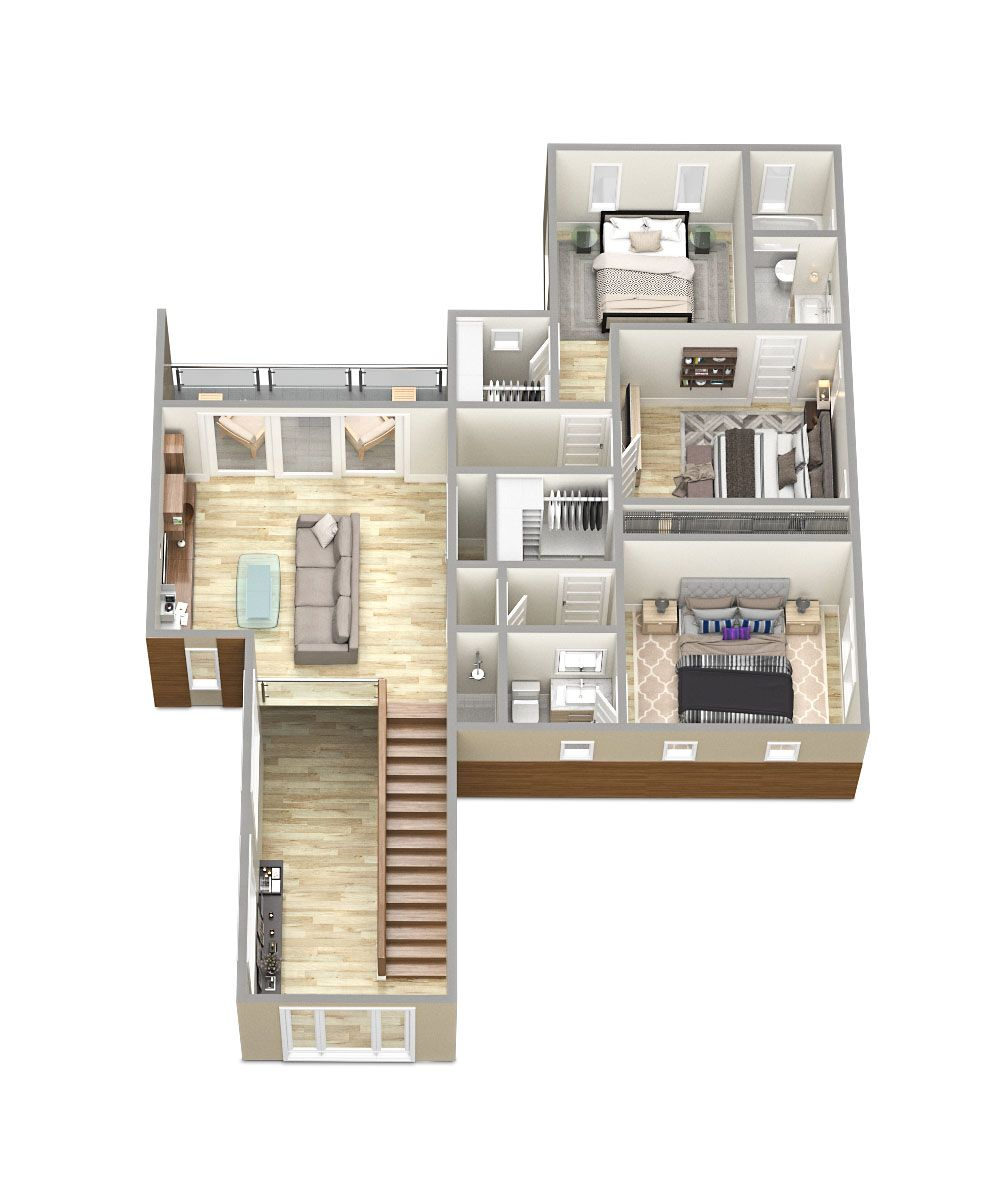 3D Floorplans for the Sawyer Sound Property Tsymbals Desig