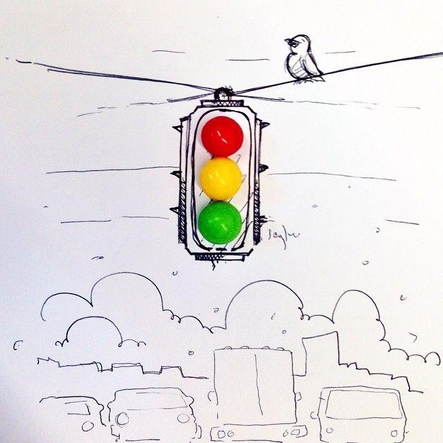 Gobstopper traffic lights #snackadoodle #doodle #doodleaday #doodlebyjaykee #draw #illustration #art #myart #gobstoppers #wonka #Manila #Philippines #instagood #igerspinoy #igersmanila