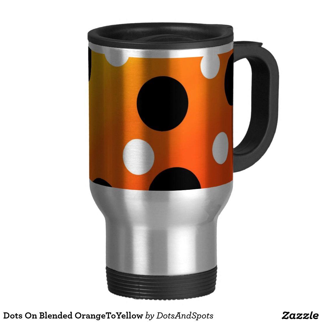 Dots On Blended OrangeToYellow 15 Oz Stainless Steel Travel Mug  http://www.zazzle.com/dots_on_blended_orangetoyellow_15_oz_stainless_steel_travel_mug-168980375923600307?rf=238588924226571373