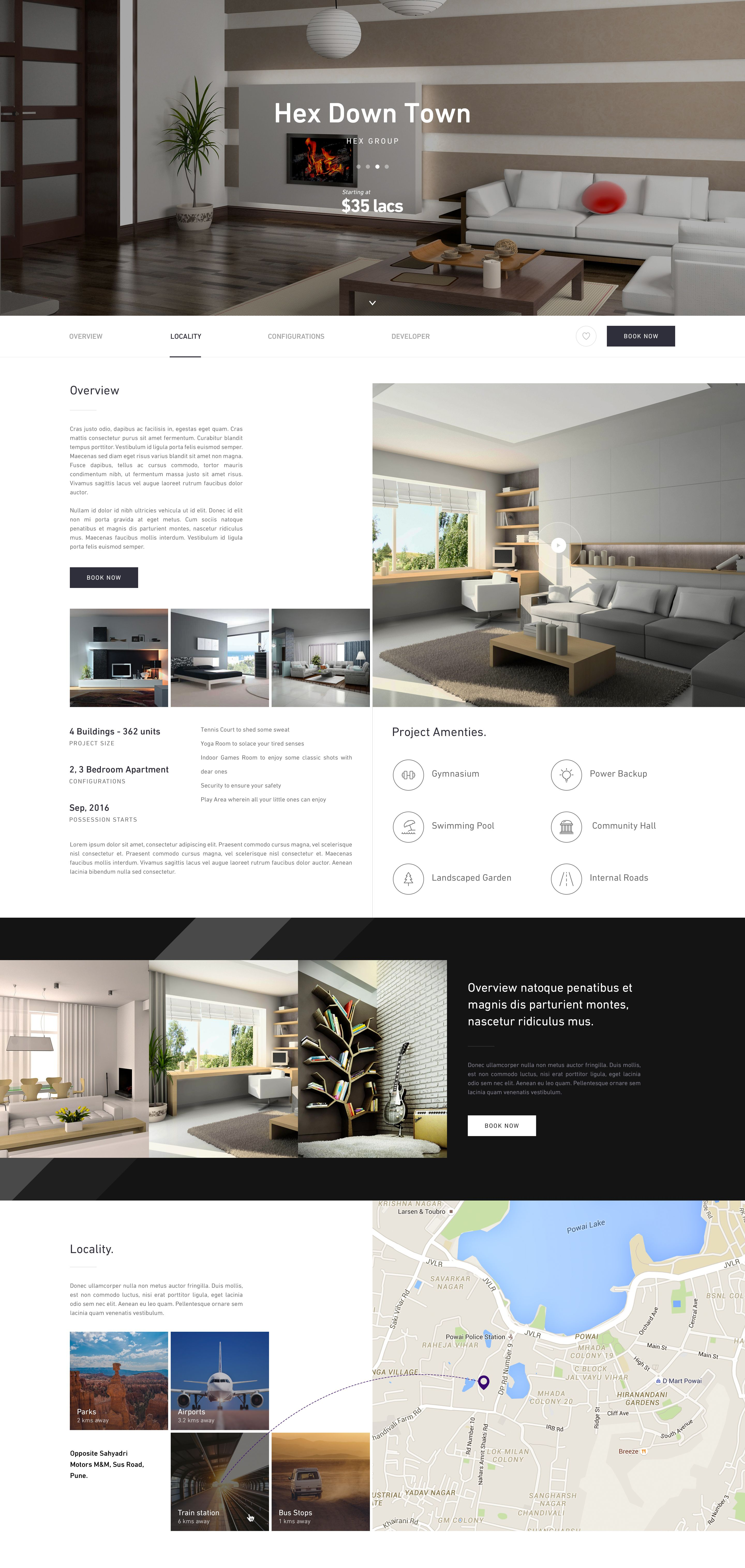 Real estate project page Real estate project