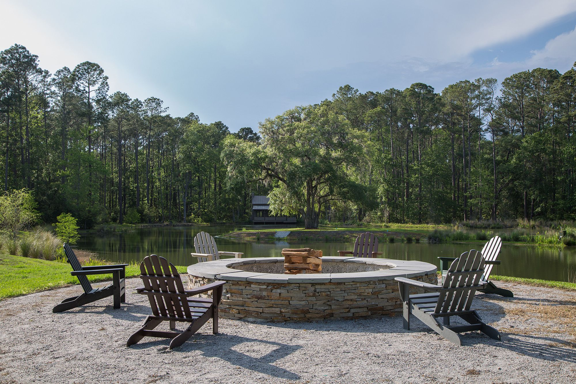 Waterfront Fire Pit | Outdoor Living Ideas | Waterfront Home Bluffton, South  Carolina | Southern