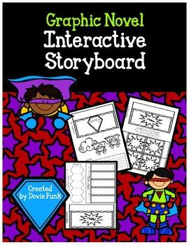 Graphic Novel Interactive Lapbook Storyboard Book Report  Comic