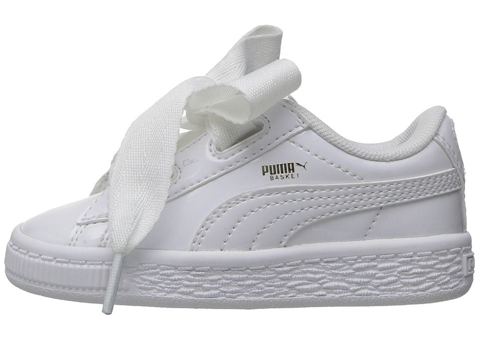 Puma Kids Basket Heart Patent (Toddler) Girl's Shoes Puma