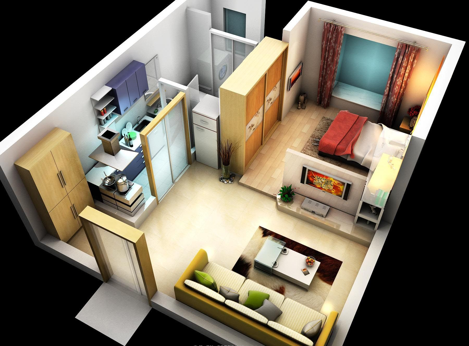 Condo 001 3d Model Made Using Vray Scene Is As Shown Includes All Lights Cameras And Settings Interior Architecture Design House Plans Interior Architecture