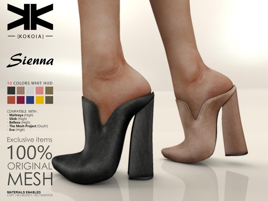 Sienna :: Woman Shoes :: 10 Colors | Shoes for Secondlife