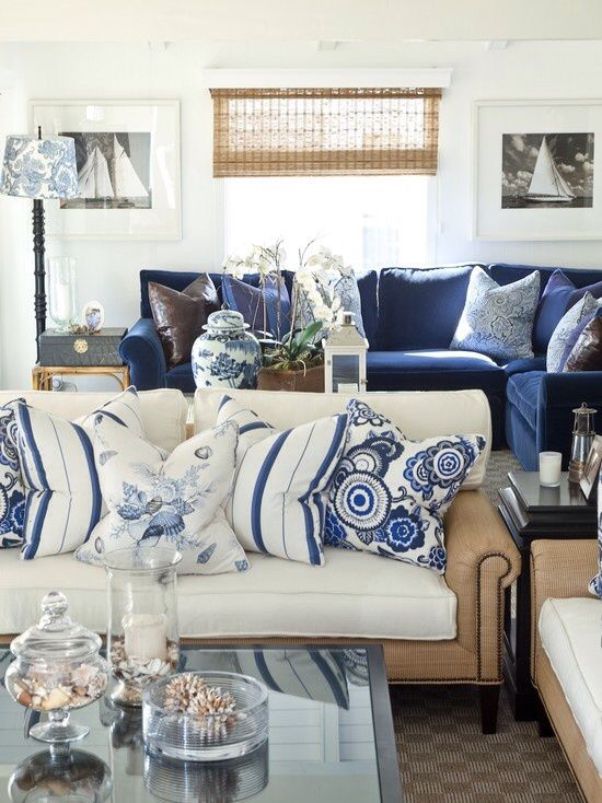 Blue and white inspirations, Decorating ideas in 2018 Pinterest