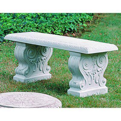 Campania International Traditional Straight Cast Stone Backless