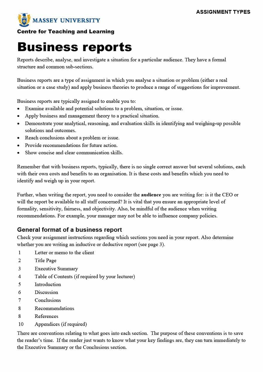 The breathtaking Business Report Writing Examples Free Download