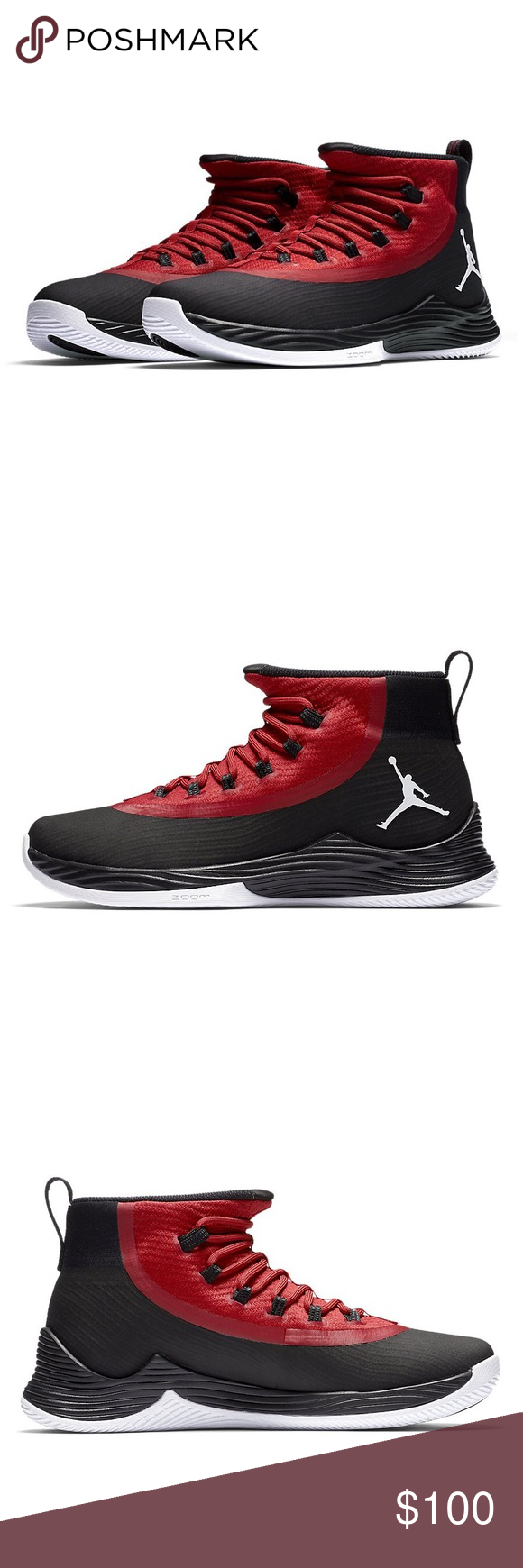03d3579327e8 Nike Jordan Ultra Fly 2 for Men ✨100% AUTHENTIC✨ ✨Color  Black   White    University Gym Red ❤️Part of the Fly Series