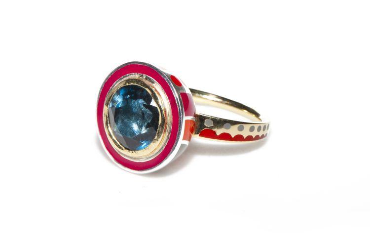 Alice cicolini london blue topaz ring stone rings