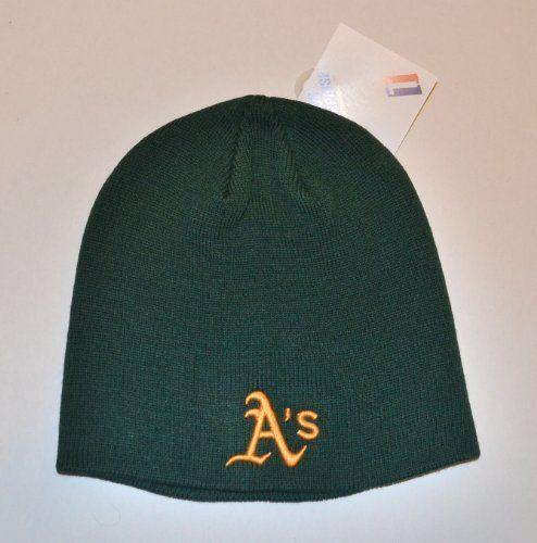 c751b40ab ... usa oakland athletics as green skull cap mlb te cuffless beanie knit hat  by mlb.