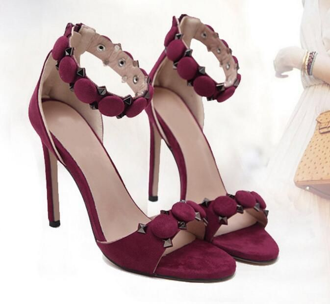 Purple High Heels Sandal for Women Online Buy in Pakistan | Purple ...