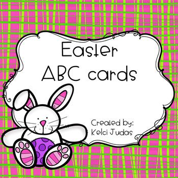 There are so many ways to use these Easter themed ABC cards in your classroom!  This product comes with both lowercase and uppercase cards.  I have also included 2 different recording sheets!Here are some ways to use in your classroom:-ABC matching game-Sensory bin activity-Color the Room (Similar to Write the Room-- hang cards around classroom, give students recording sheet, color in the corresponding bunny once it is found in the room.)-Flashcards-ABC memory game....The possibilities are…