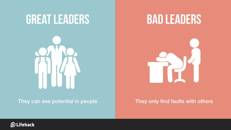 8 Big Differences Between Great Leaders And Bad Leaders ...