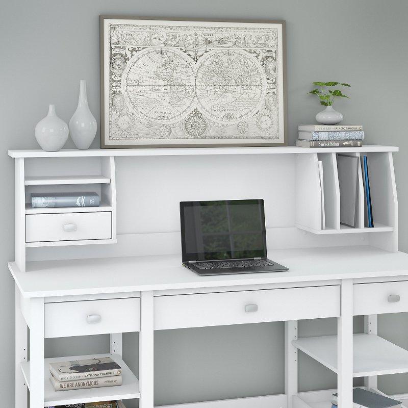 Pin On Biurko Elementy Dodatkowe Small white desk with hutch