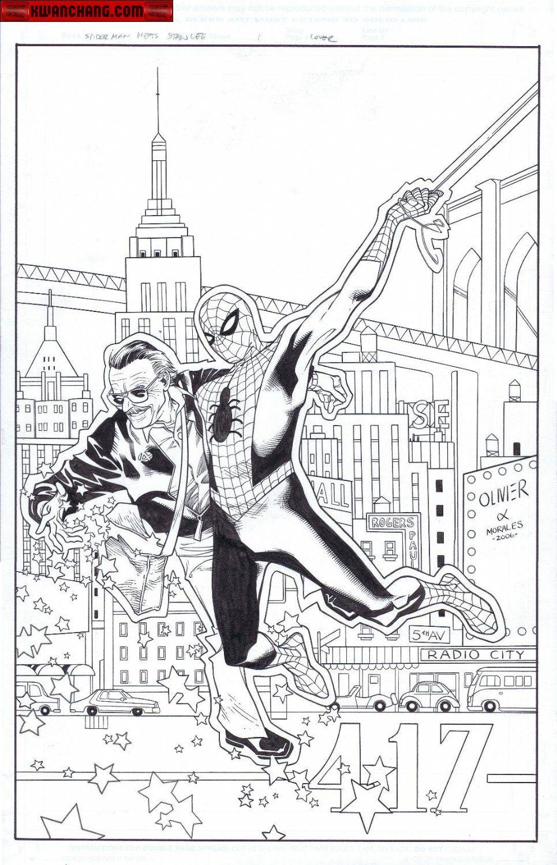Stan Lee Meets Spider-Man cover   Spiderman, Comic art ...