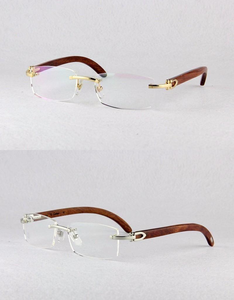 15cc01f1ae High Quality Men`s Classics Optical Frames Metal Rimless Myopia Eyewear  Frame 3524012 eye glasses frames for women