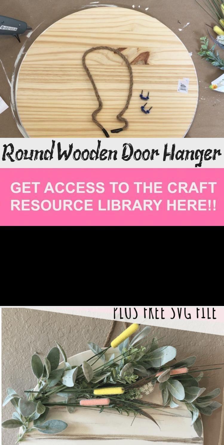 Photo of Round Wooden Door Hanger – GIFTSDIY Round Wooden Door Hanger Spring Home Decor H…