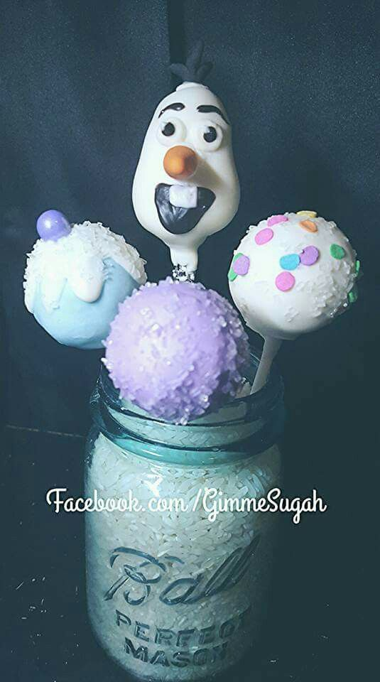 Frozen -Olaf Cakepop by Gimme Sugah