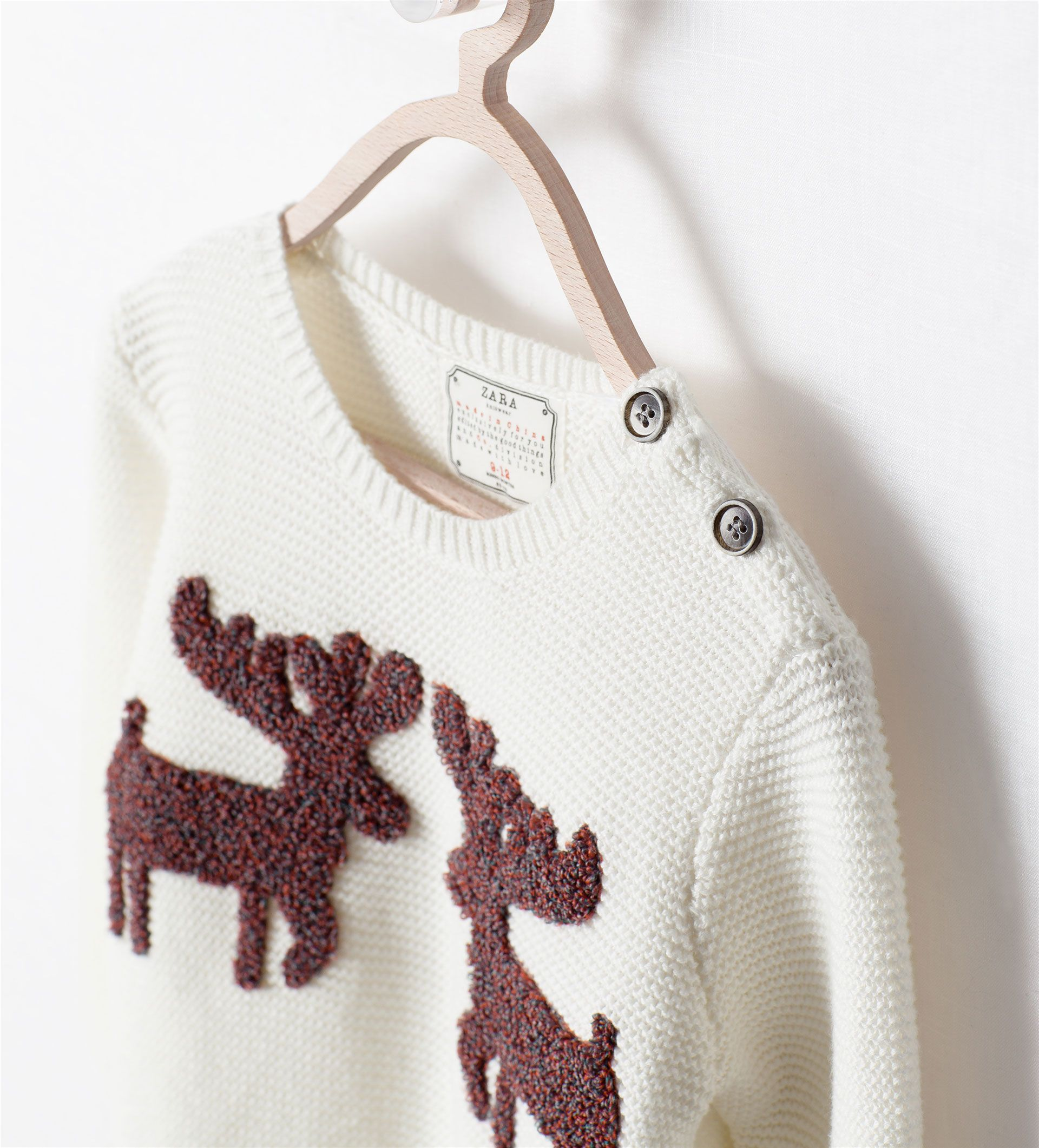 Image 4 of REINDEER PATCH SWEATER from Zara | Kids fashion ...