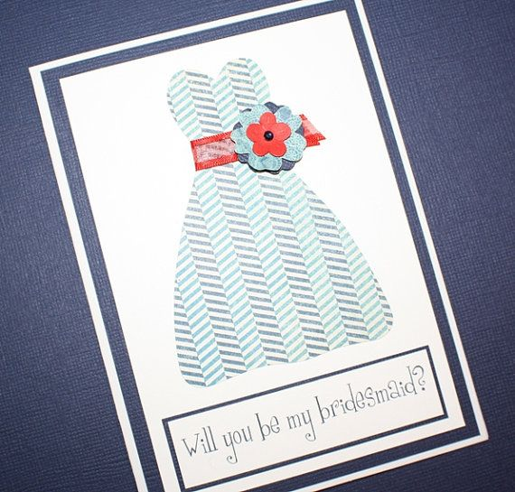 Will You Be My Bridesmaid  - Nantucket by LillyPinkPaperie on Etsy