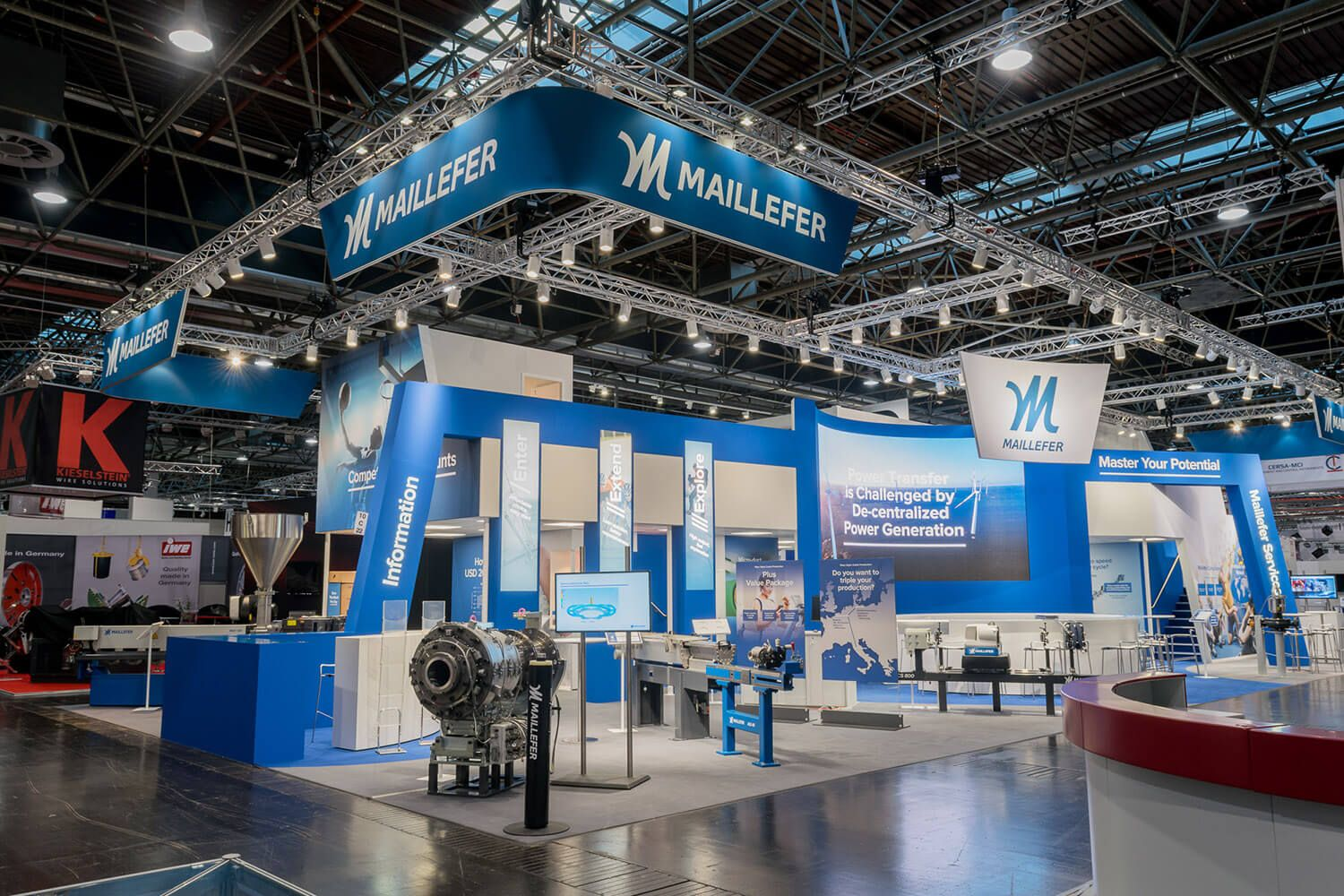 Maillefer exhibition stand @ Wire 2016, Tomexpo role: Design and ...