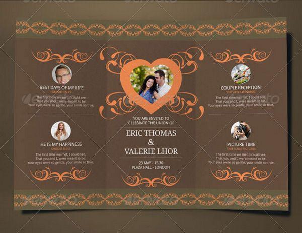 TriFold Wedding Brochure Card  Trifold    Brochure