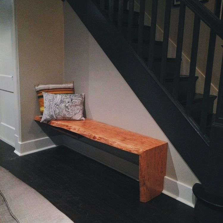 Awesome Perry And Co   Pittsburgh Custom Modern Furniture   Live Edge Cherry Bench    Built