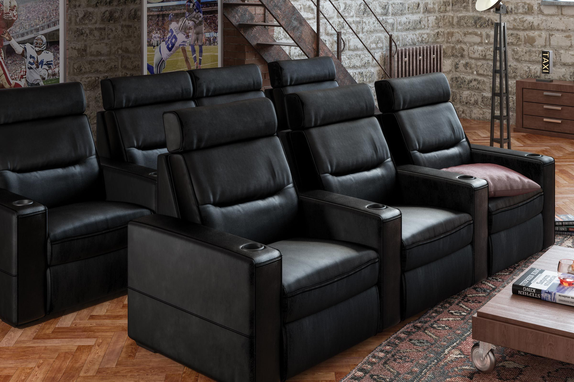 Theater Leder Sofa Sessel Kinosessel Macht Liege Theaterbestuhlung Reihenbestuhlung Liege Stühle Theater Raum Möbel Home Theater Seating Home Theater Seating