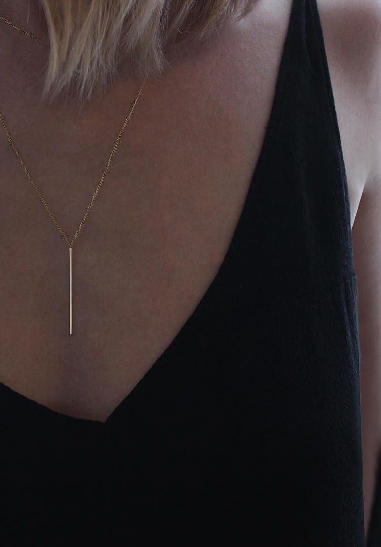 you from to for item gold and stainless silver moon pendant steel best friend modern design minimalist necklaces dainty necklace in i simple love horizontal the gift back bar choker