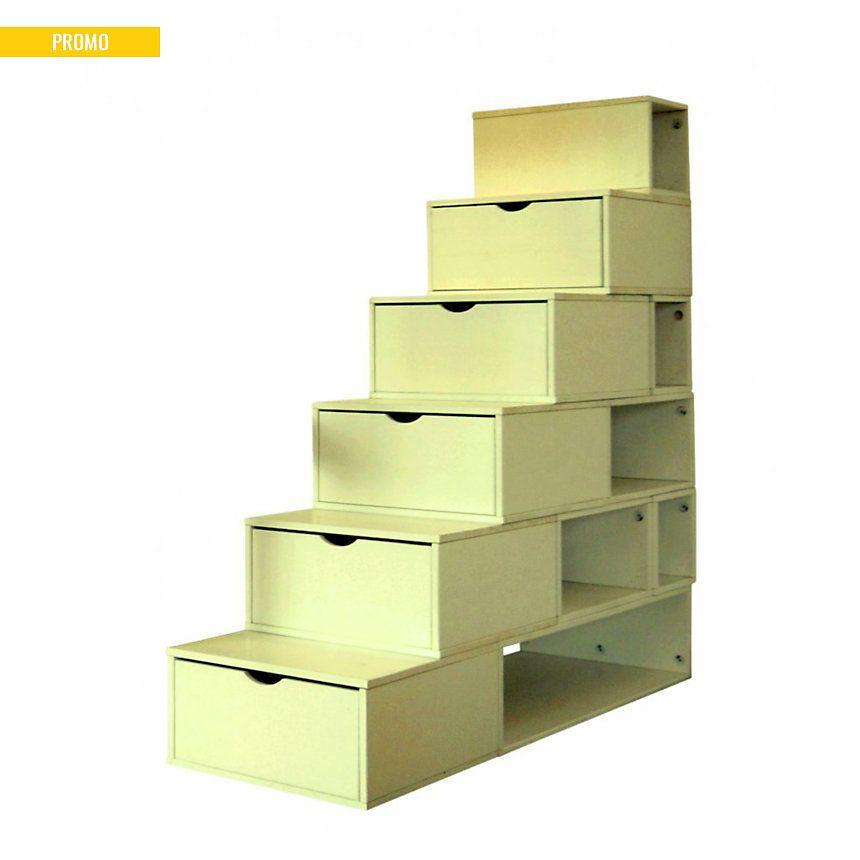 Optez Pour Cet Escalier Cube De Rangement Pratique Avec Ses Cases Et Ses Tiroirs De Rangement Ses Marches De 25 Cube Rangement Rangement Tiroir Meuble Chambre