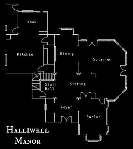 Inside halliwell manor from the tv show charmed for Manor blueprints