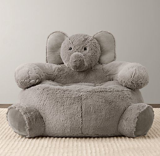 Cuddle Plush Elephant Chair | Nursery Accessories | Restoration Hardware Baby & Child