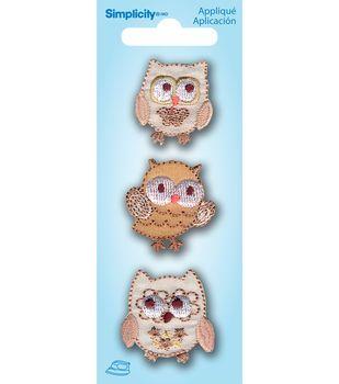 Mini Owls 3Pc Applique