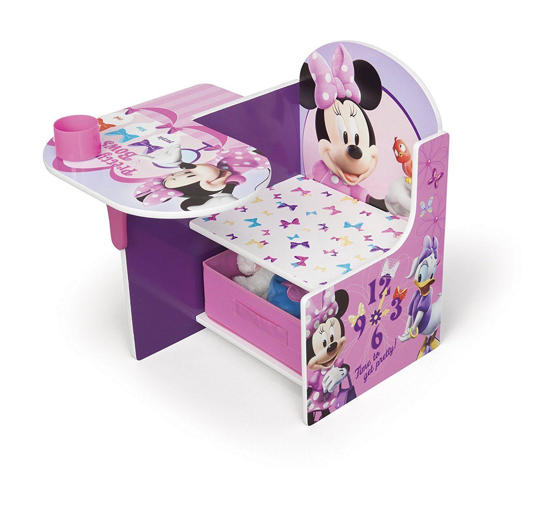 Minnie Mouse TischStuhl Kombination mit Staufach (Rosa