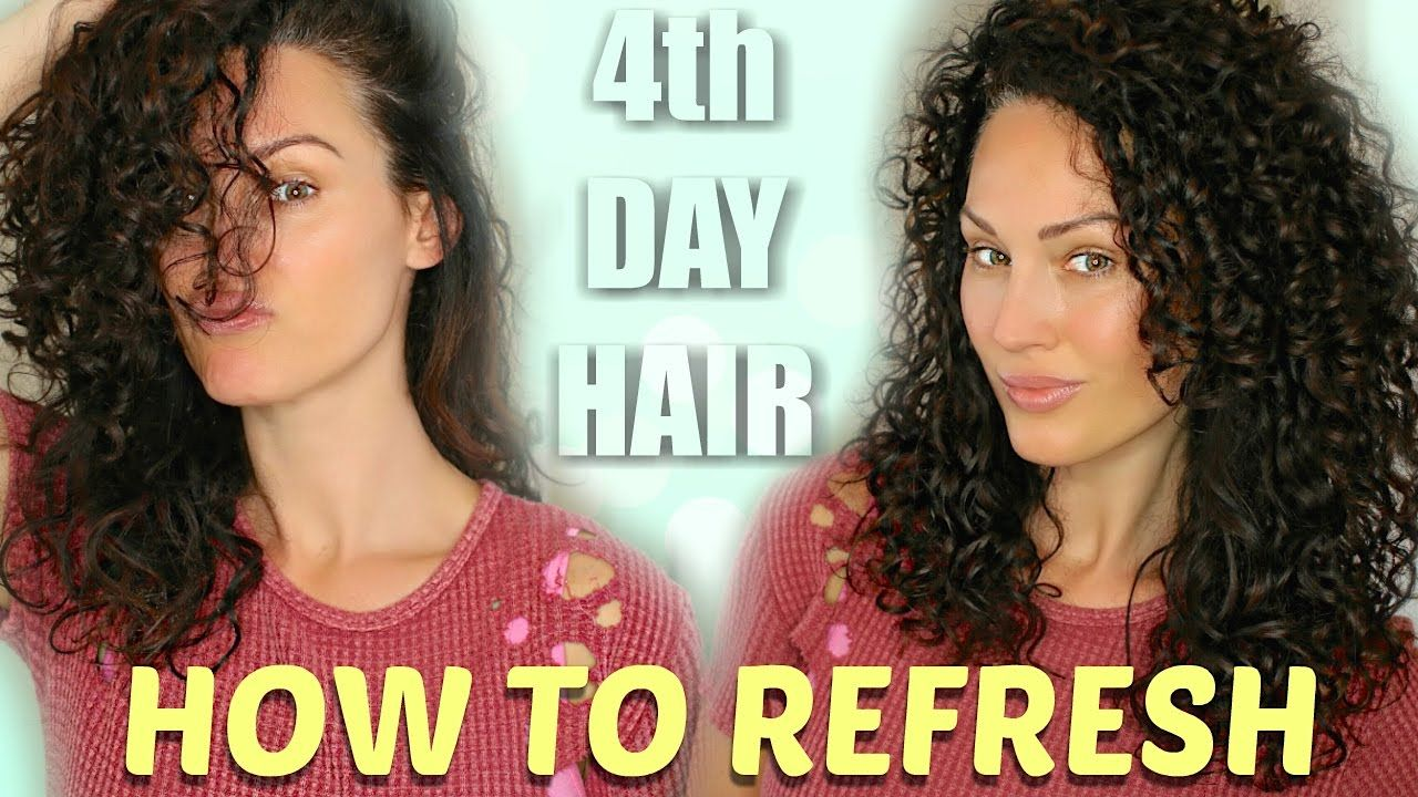 How To Refresh Curly Hair 2nd 3rd 4th Day Hair Curly Hair Styles 2nd Day Hair Curly Hair Videos