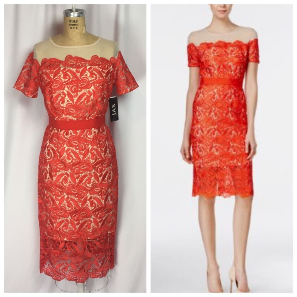 Jax illusion lace sheath dress in zinnia ebay my ebay listings jax illusion lace sheath dress in zinnia ebay ombrellifo Gallery