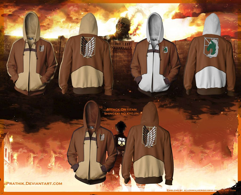 Attack on Titan / Shingeki no Kyojin Hoodies! by prathik.deviantart.com on @deviantART