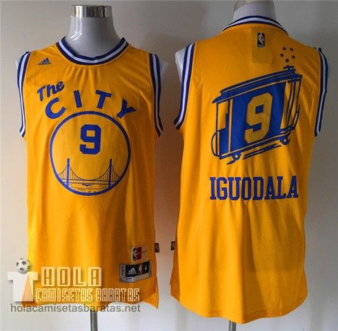 899e838ef Camisetas Nba Baratas Retro City Bus Swingman Iguodala  9 Amarillo Golden  State Warriors €21.9