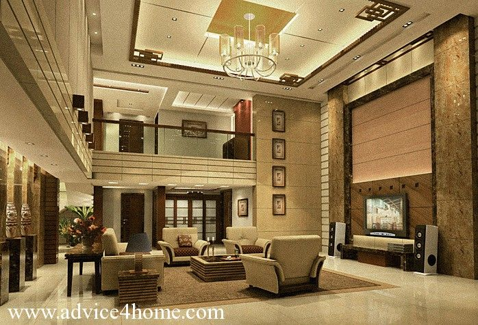 upscale interior high rise living room